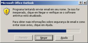 Bloqueio de segurança Outlook