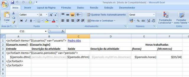 jXLS - template excel