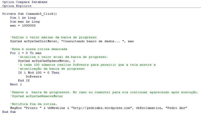 3 - código da barra de progresso