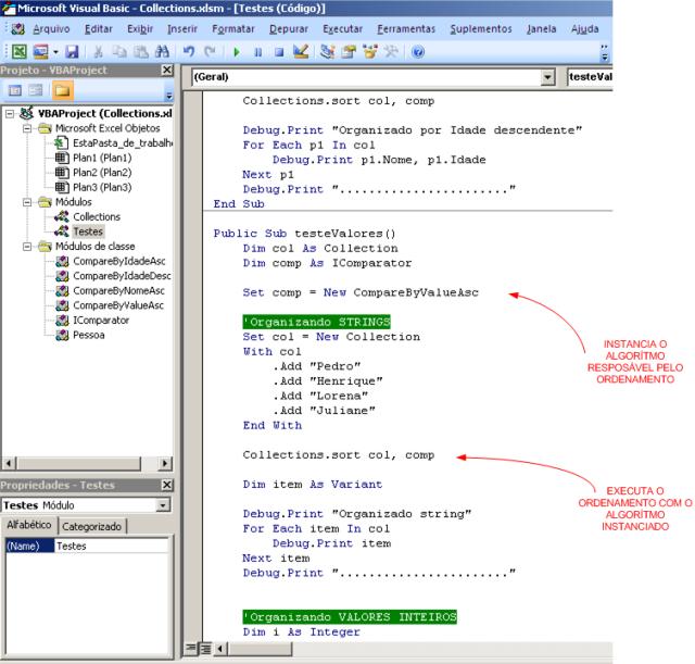 módulo que realiza o teste do que foi codificado.