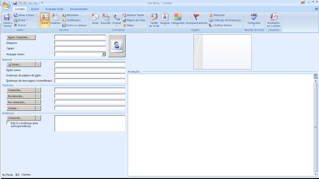 OutlookContatoPadrao