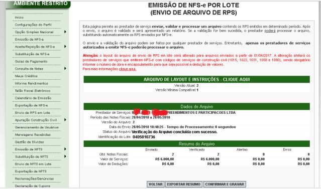 Emissao NF Paulistana